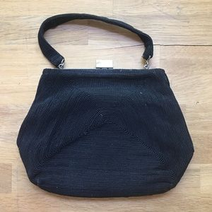 Vintage Black Wristlet/Clutch/Purse